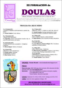 III Edición formación Doulas Alicante 2012-2013