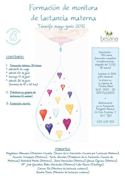 Formación monitora lactancia materna Tenerife 2012 Besana ACPLM